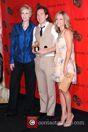 Jane Lynch, Ian Brennan and Jessalyn Gilsig