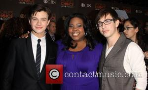 Chris Colfer, Amber Riley, Kevin McHale  People's Choice Awards 2010 held at the Nokia Theatre L.A. Live - Arrivals...