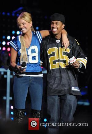 TV Personality Nancy O'Dell and Actor Nick Cannon The Pepsi Super Bowl Fan Jam featuring presented by Vh1 on South...