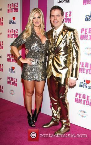 Kim Zolciak and Perez Hilton Perez Hilton's 'Carn-Evil' Theatrical Freak and Funk 32nd birthday party at Paramount Studios - arrivals...
