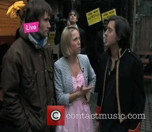 Live From Studio Five - Television Show  Pete Doherty spits beer on 'Live From Studio 5' reporter...
