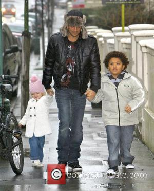 Peter Andre, with his children Princess Tiaamii Andre and Harvey Price