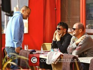 Peter Andre with his brothers Mike and Chris  go out for lunch on a sunny day in Brighton. Sussex,...