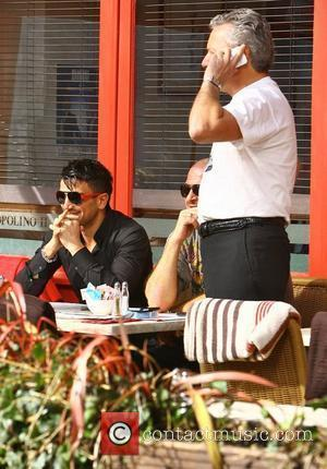 Peter Andre, Chris Andre Peter Andre with his brothers Mike and Chris go out for lunch on a sunny day...