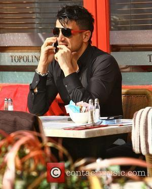 Peter Andre Peter Andre with his brothers Mike and Chris go out for lunch on a sunny day in Brighton....