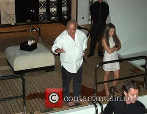 Jennifer Lopez, Bernie Ecclestone and Marc Anthony