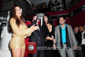 Nayer, Pitbull, Ana Carolina and Pico  Pitbull 30th birthday celebration at Club Play  Miami Beach, Florida - 15.01.11
