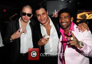 Guest, Sammy Sosa and Omega  Pitbull 30th birthday celebration at Club Play  Miami Beach, Florida - 15.01.11