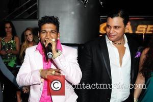 Omega and Sammy Sosa  Pitbull 30th birthday celebration at Club Play  Miami Beach, Florida - 15.01.11