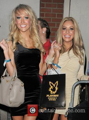 Sophie Reade leaving Funky Buddha nightclub, having attended the 'Playboy Energy Drink' party being held there. London, England - 18.11.10
