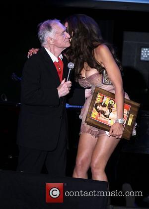 Hugh Hefner and Hope Dworaczyk