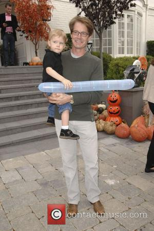 Kyle MacLachlan and his son Callum Lyon MacLachlan Celebrities at Pottery Barn Kids Halloween Carnival Los Angeles, USA - 23.10.10