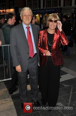 Sir Michael Parkinson and guest Gala night of stage version of 'Yes, Prime Minister' held at the Gielgud Theatre -...