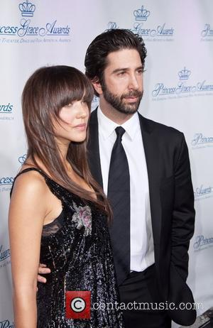 David Schwimmer and wife Zoey Schwimmer attend the Princess Grace Awards Gala held at Cipriani on 42nd Street New York...