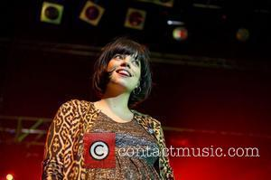 A heavily pregnant Lily Allen performing at Koko as special guest for Professor Green London, England - 19.10.10