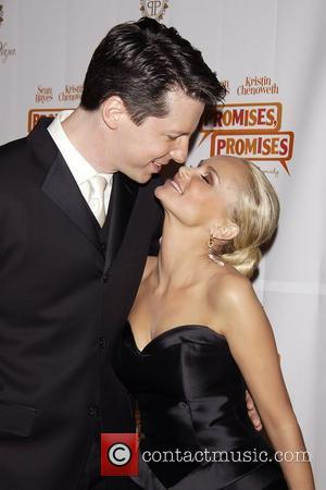 Sean Hayes and Kristin Chenoweth  Opening night after party for the Broadway musical 'Promises, Promises' held at The Plaza...