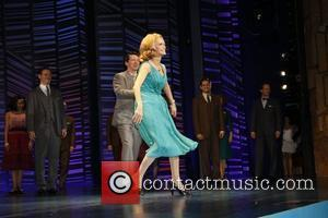 Sean Hayes and Kristin Chenoweth on stage during the opening night for the musical 'Promises, Promises' at the Broadway Theatre...