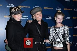 Alexandra Richards, Patty Hanson and Theodora Richards at a screening of 'Public Speaking' held at The Museum of Modern Art...