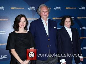 Executive Producer Margaret Bodde, Vanity Fair Editor Graydon Carter and author Fran Lebowitz at a screening of 'Public Speaking' held...
