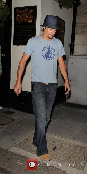 Kid Rock aka Robert Ritchie leaving Punch Bowl pub in Mayfair London, England - 22.06.10