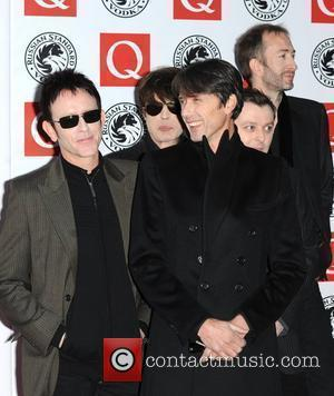 Brett Anderson, Neil Codling, Simon Gilbert, Richard Oakes and Mat Osman of Suede The Q Awards 2010 held at the...