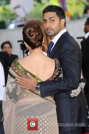 Aishwarya Rai Bachchan, Abhishek Bachchan Raavan - UK film premiere held at the BFI Southbank -arrivals. London, England - 16.06.10