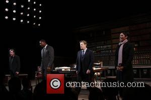 Richard Thomas, Dennis Haysbart, Eddie Izzard and Afton C. Williamson  Closing night of the Broadway production of 'Race' at...