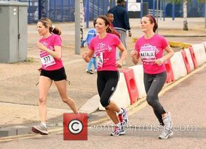 Tana Ramsay and Natalie Pinkham The 2010 Race For Life for Cancer Research UK at the O2 Arena London, England...