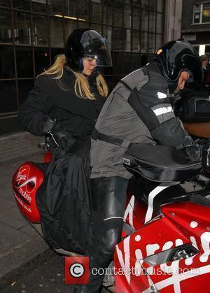 Holly Willoughby leaving the BBC Radio 1 studios London, England - 25.11.10