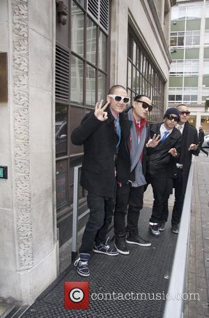 Far East Movement arrives at BBC Radio 1 studios London, England