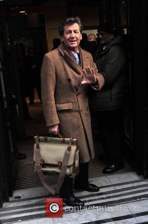 Melvyn Bragg leaving the BBC Radio 1 studios London, England - 18.12.09