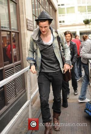 New 'Doctor Who' Matt Smith arriving at the BBC Radio One studios London, England - 02.04.10