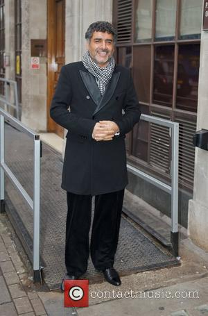 Entrapreneur and television personality James Caan leaving the BBC Radio 1 studios London, England - 07.01.11