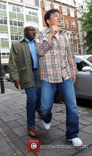 Jackie Chan outside the BBC Radio One studios London, England - 15.07.10