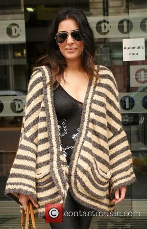 Laila Rouass outside the BBC Radio One studios  London, England - 16.10.10