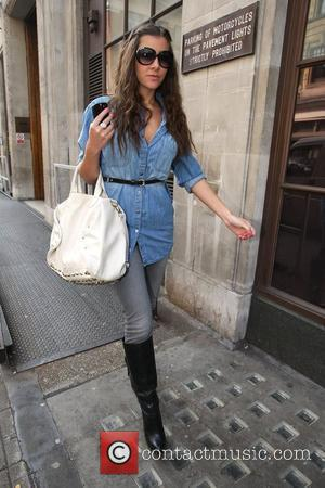 Imogen Thomas leaving the BBC Radio One studios London, England - 14.05.10