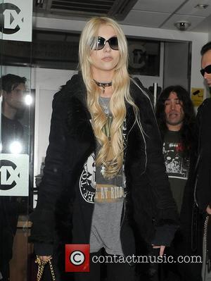 Taylor Momsen leaving Radio 1 studios after a performance on the Live Lounge. London, England - 11.12.10