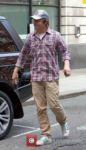 Jamie Oliver leaving the BBC Radio 2 studios London, England - 19.04.10