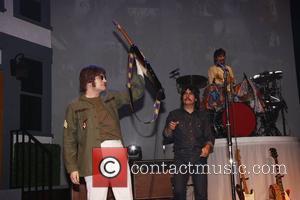 John Lennon, George Harrison, Neil Simon and Ringo Starr