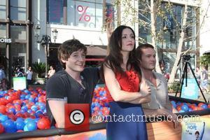 Shannon Woodward, Lucas Neff and Garret Dillahunt Stars of the new show 'Raising Hope' hold a 'Daddy Decathlon' at The...