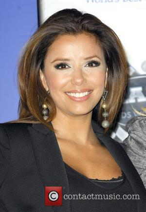 Actress Eva Longoria Parker attend the Rally for Kids with Cancer Scavenger Cup press conference at Petersen Automotive Museum...