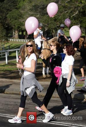 Laura Csortan and Lizzy Lovett Ralph Lauren's Pink Pony 10th Anniversary Walk to raise awareness for breast cancer research in...