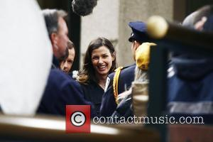 Bridget Moynahan on the set of 'Reagan's Law' filming the pilot episode in Manhattan New York City, USA - 13.04.10