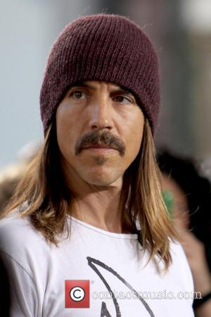 Anthony Kiedis Red Hot Chili Peppers film an interview for the entertainment television news programme 'Extra' at The Grove in...