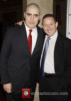 Alfred Molina and John Logan Opening night of the Broadway play 'Red' at the Golden Theatre - After Party New...