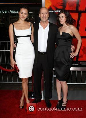 Emma Heming, Bruce Willis, Rumer Willis special screening of Summit Entertainment's 'RED' held at The Grauman's Chinese Theatre. Hollywood, California...