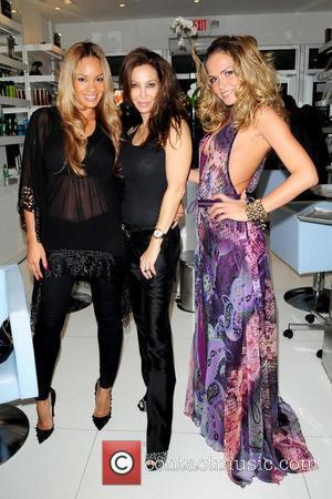 Evelyn Lozada, Lisa Pliner and Cindy Taylor 'Rev It Up for the Rally' cancer event, held at Femme Coiffure Hair...