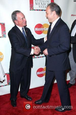 Michael Bloomberg and Mexican Ambassador Arturo Sarukhan 'Revealing Mexico Week' opening night reception at the Top of the Rock Observation...
