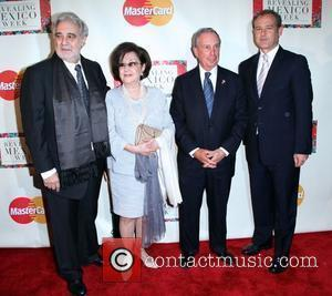 Placido Domingo, Michael Bloomberg and Mexican Ambassador Arturo Sarukhan 'Revealing Mexico Week' opening night reception at the Top of the...