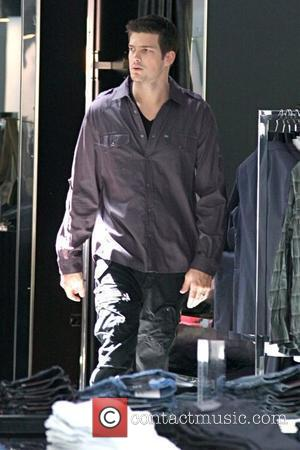Rick Malambri 'Step Up 3D' star shopping with his wife at Armani Exchange Los Angeles, California - 25.08.10